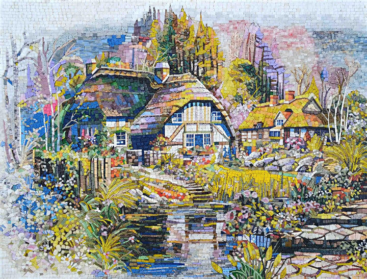 Marble Mosaic Murals- FairyHouse on River