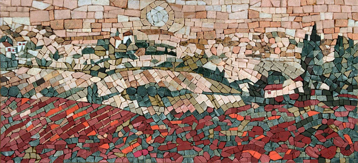 Abstract Mosaic Artwork - Prairie