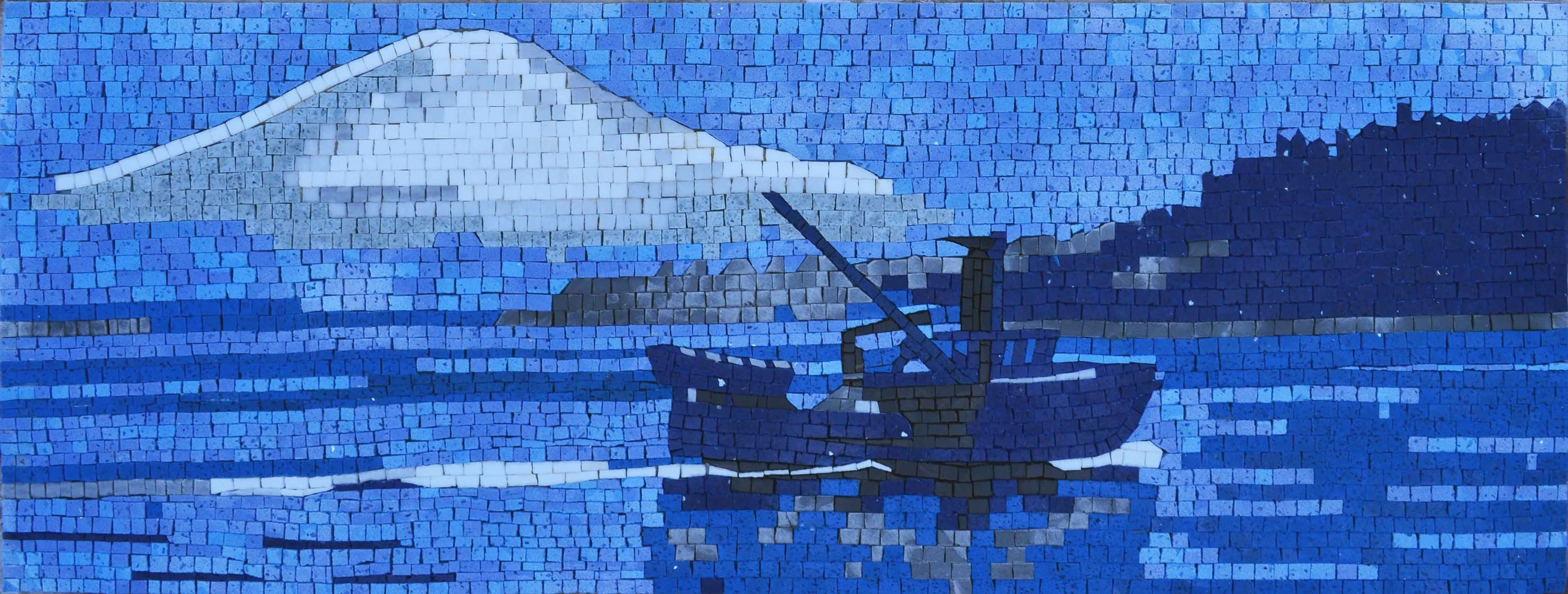 Abstract Mosaic Sea Escape Pic