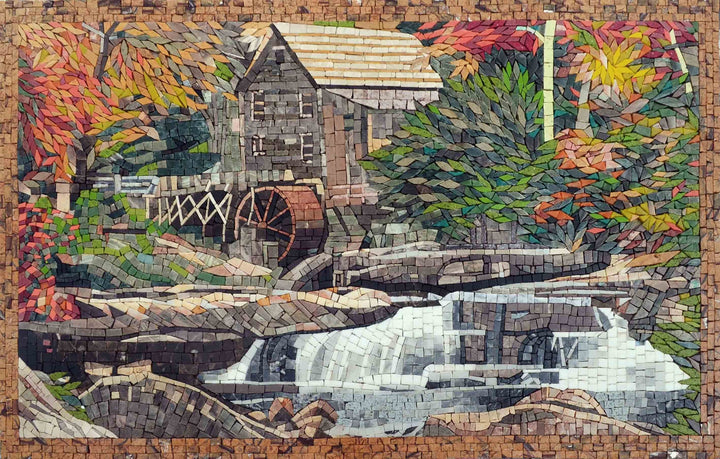 Mosaic Wall Art - Late Autumn Falls