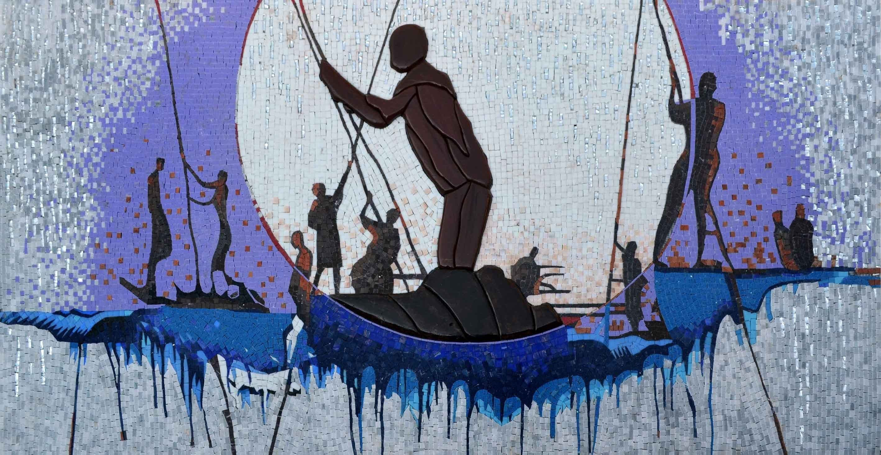 Mosaic Reproduction Man Overboard Pic