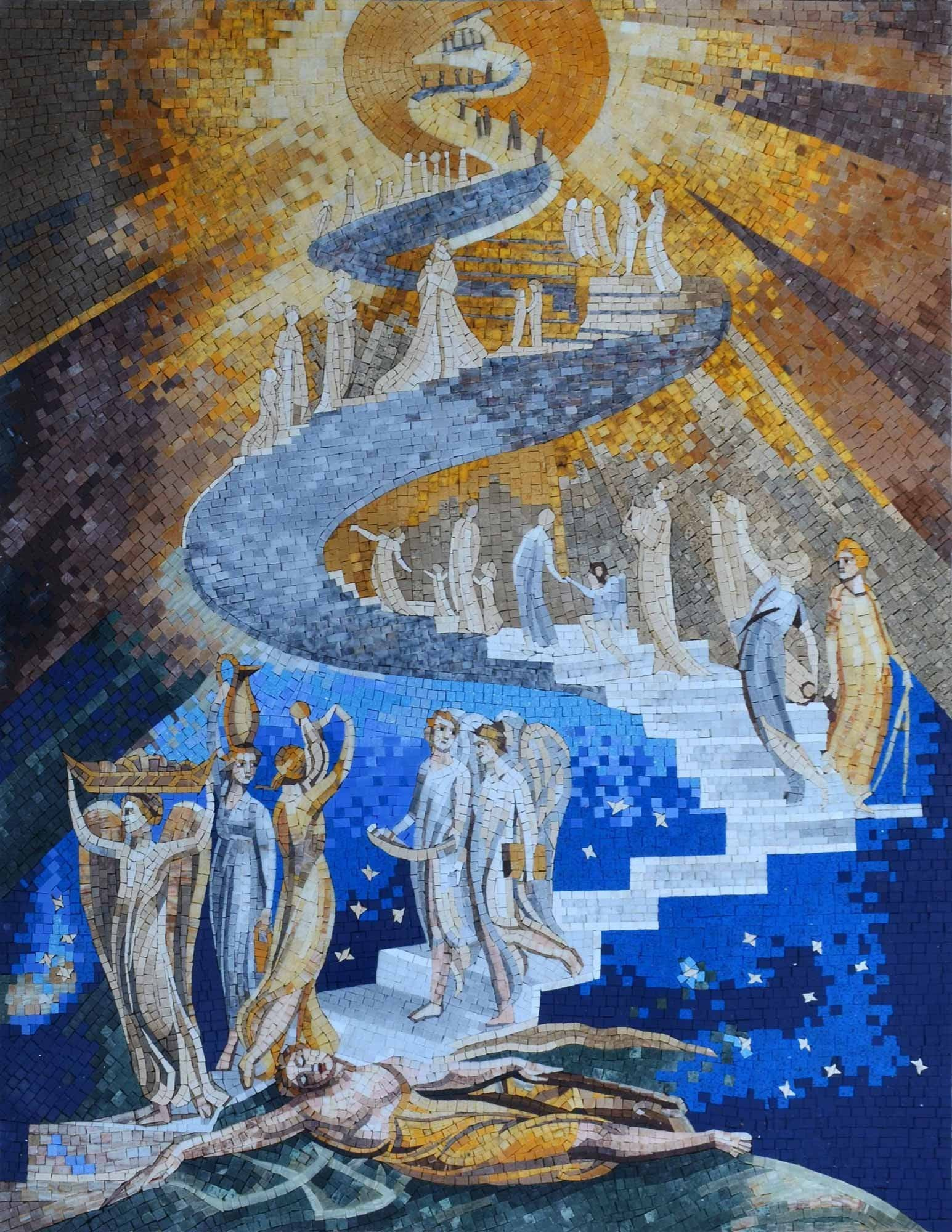 Mosaic Reproduction Jacob's Ladder Pic