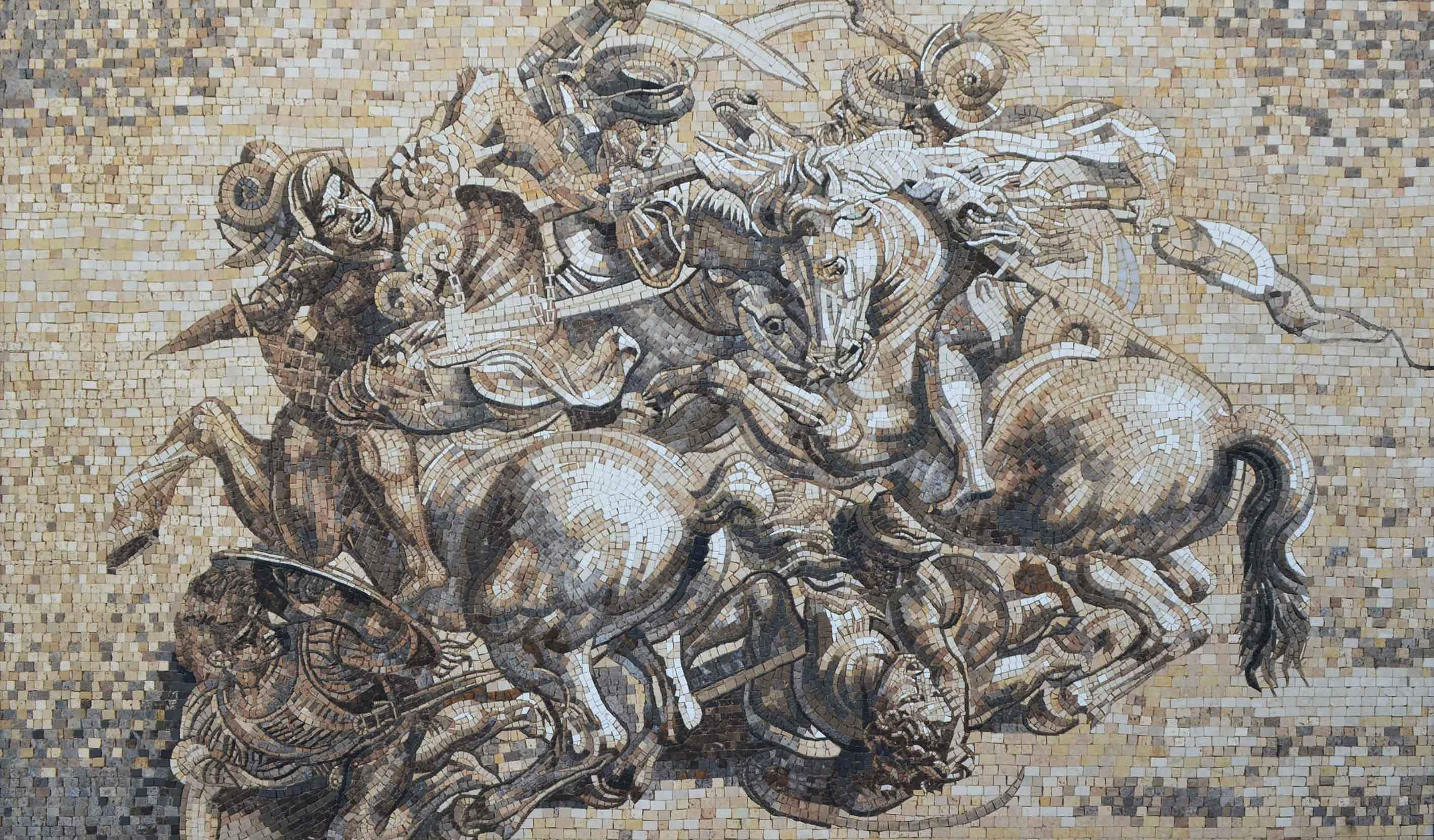 Mosaic Reproduction The Battle Of Anghiari Pic