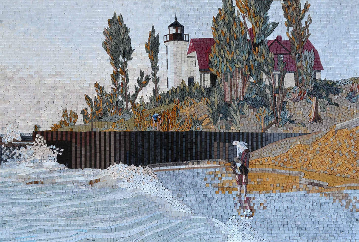Mosaic Reproduction - The Lighthouse Wanderers