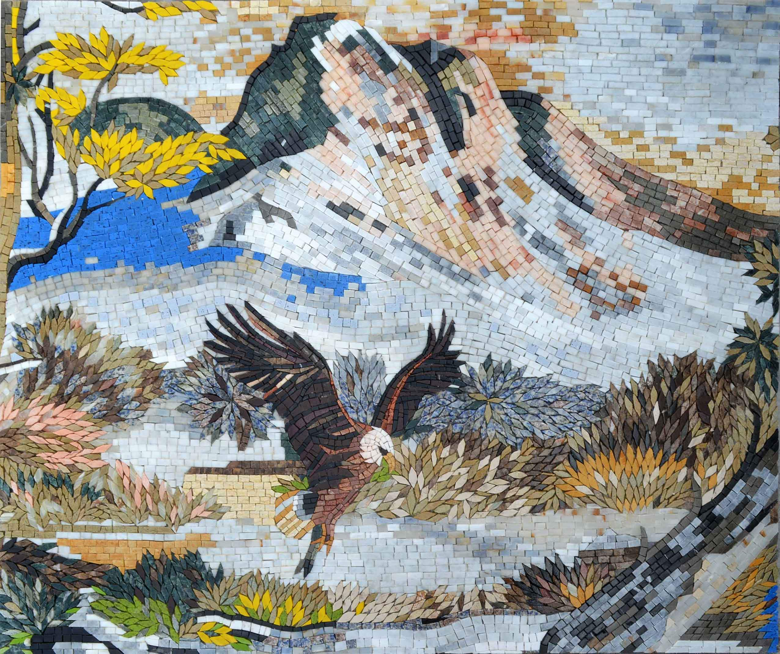 Return Of The Eagle Mosaic Wall Art Pic