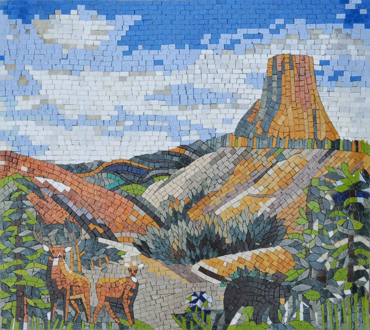 A Valley in Nature - Mosaic Art