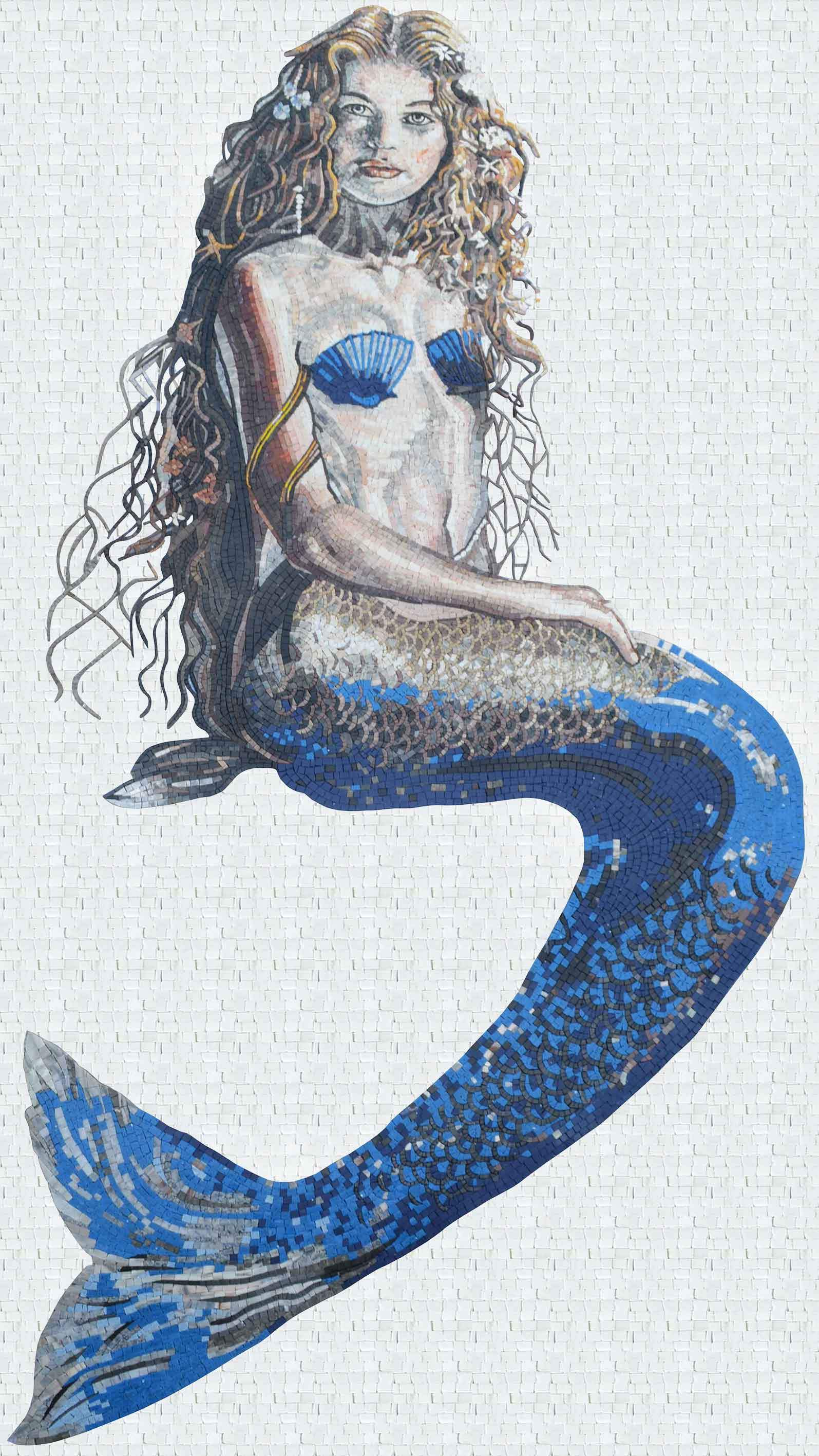 Mermaid Full Portrait Mosaic Pic