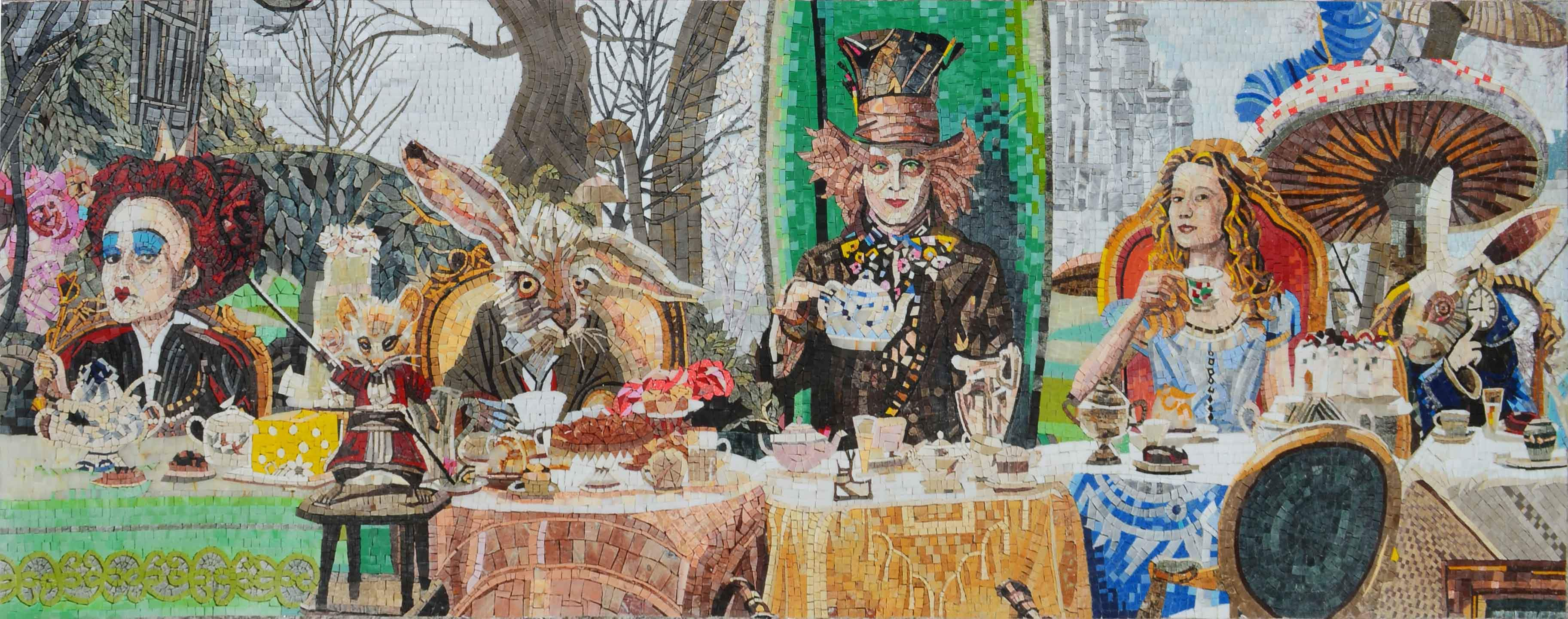 Alice In Wonderland Tea Party Mosaic Pic