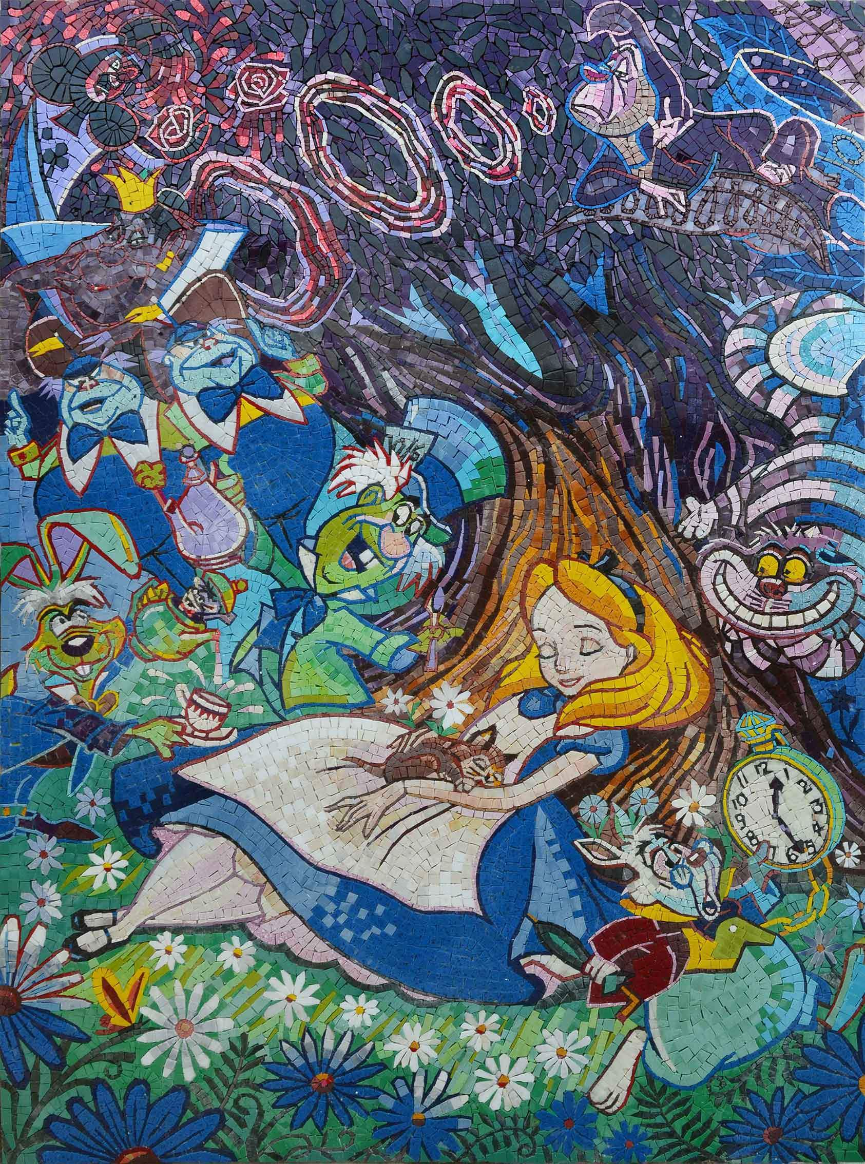 Alice In Wonderland Dreaming In Colors Mosaic Pic