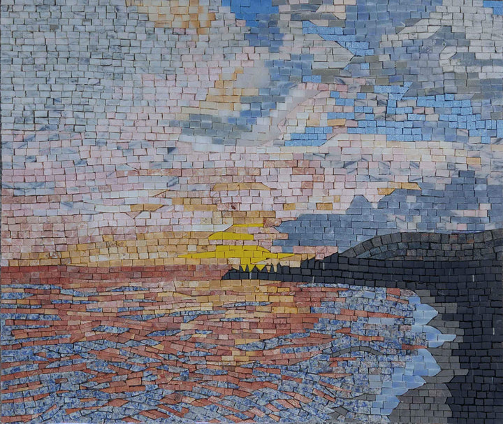 Hazy Sunset - Mosaic Art