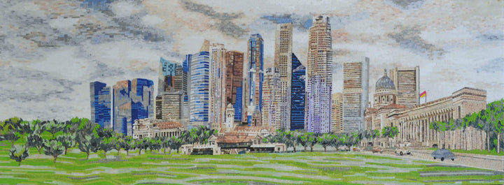Singapore Skyline Mosaic Art