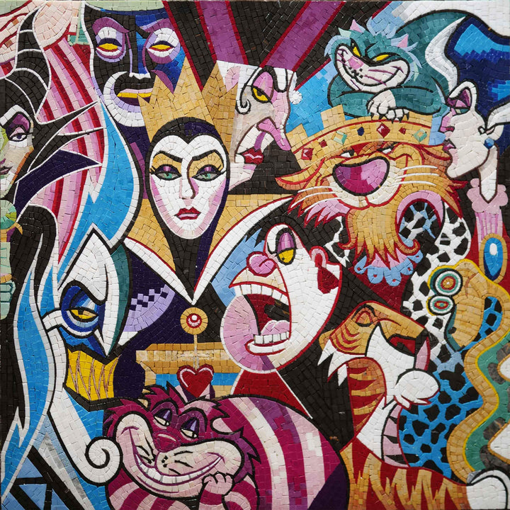 Cartoon Villains - Mosaic Art