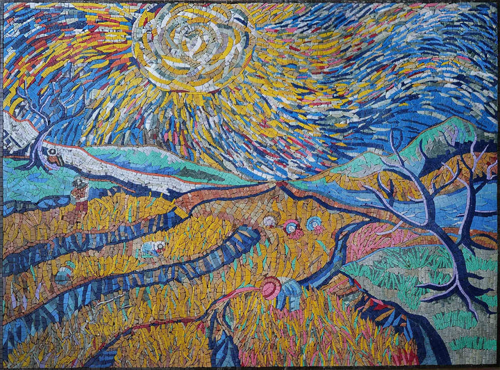 Mosaic Art Reproduction - Vincent Van Gogh Inspired