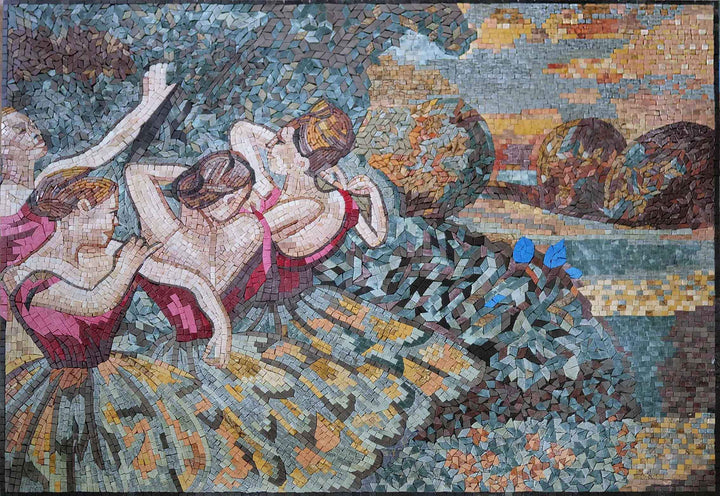 Four Dancers Mosaic Reproduction