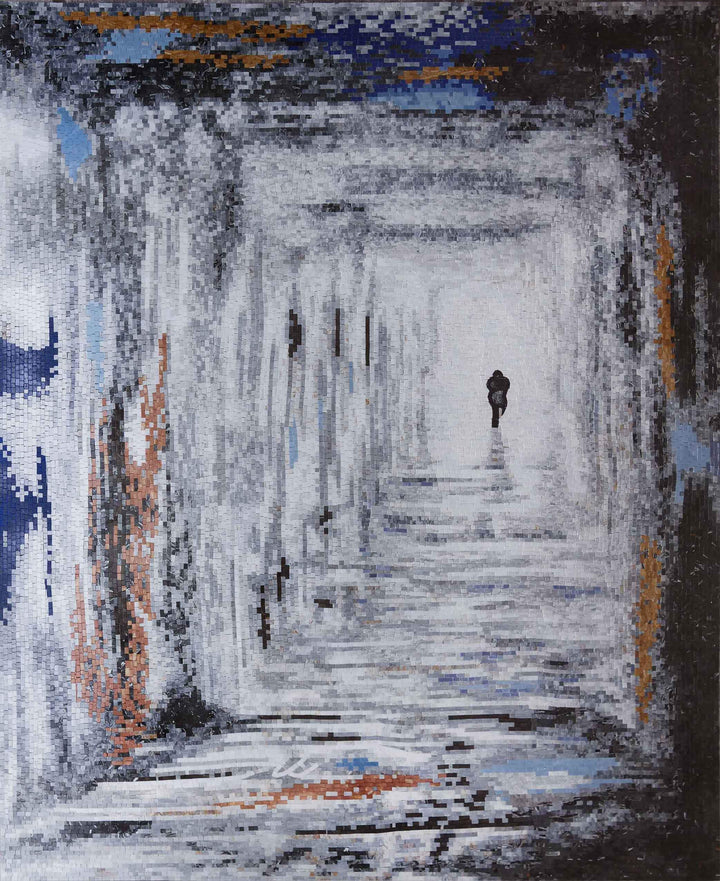 Abstract Mosaic Artwork - The Man in the Hallway