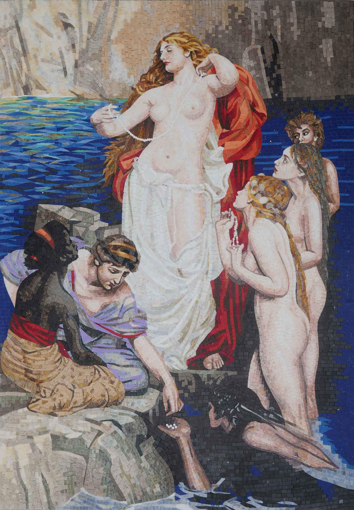 "Herbert James Draper's ""Pearls of Aphrodite"" Mosaic Art Reproduction"