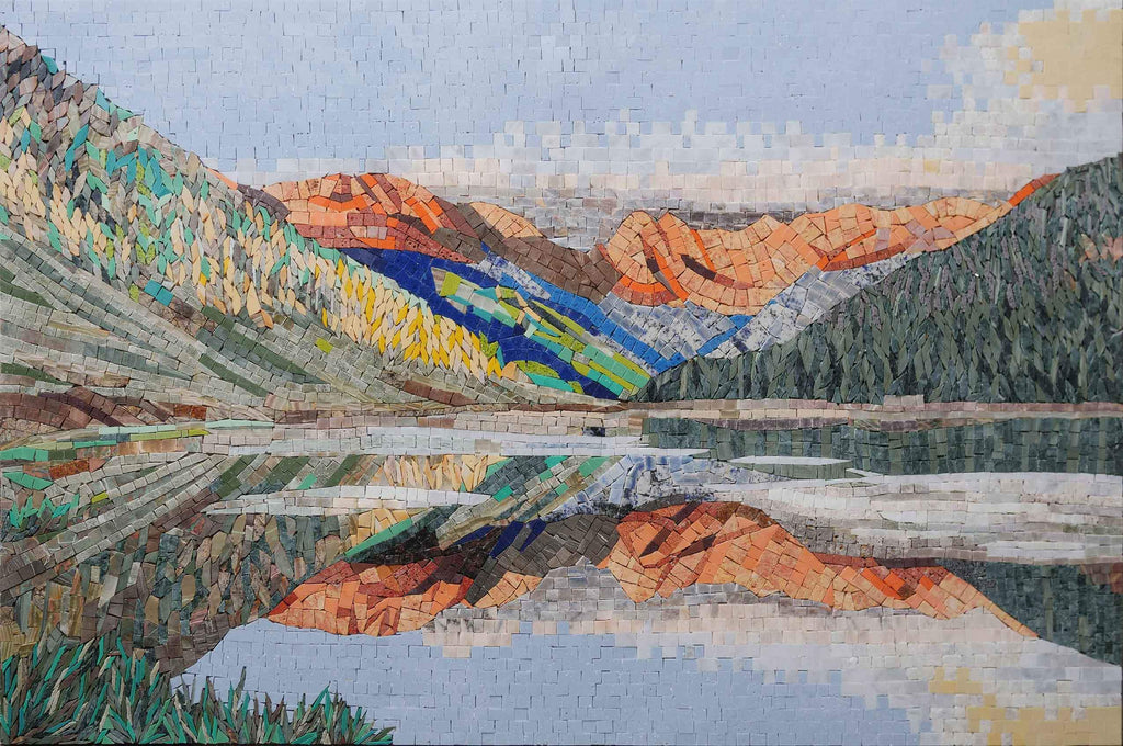 Mountain View Mosaic Wall Art