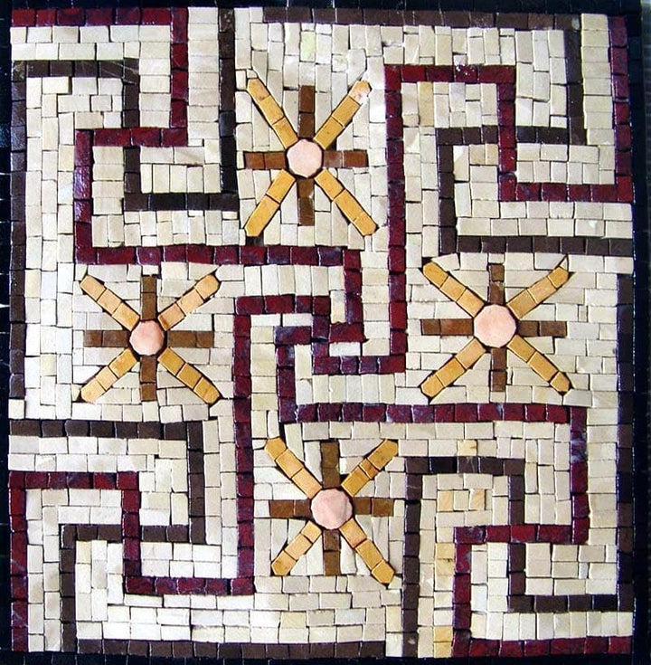 Accent Mosaic of a geometric pattern