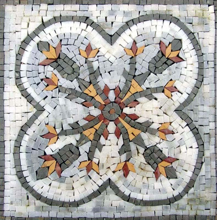 Honeysuckle Geometric Pattern Mosaic