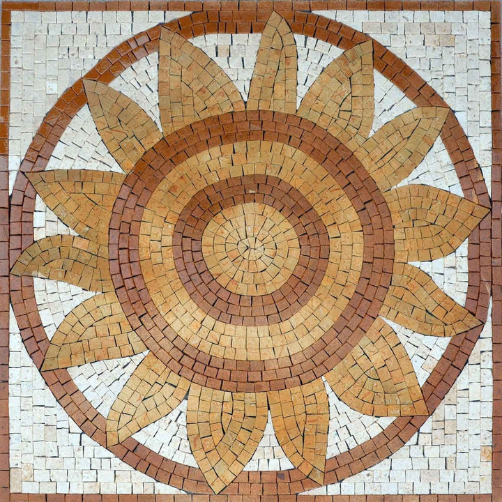 Mosaic Patterns - Ochre Sunflower