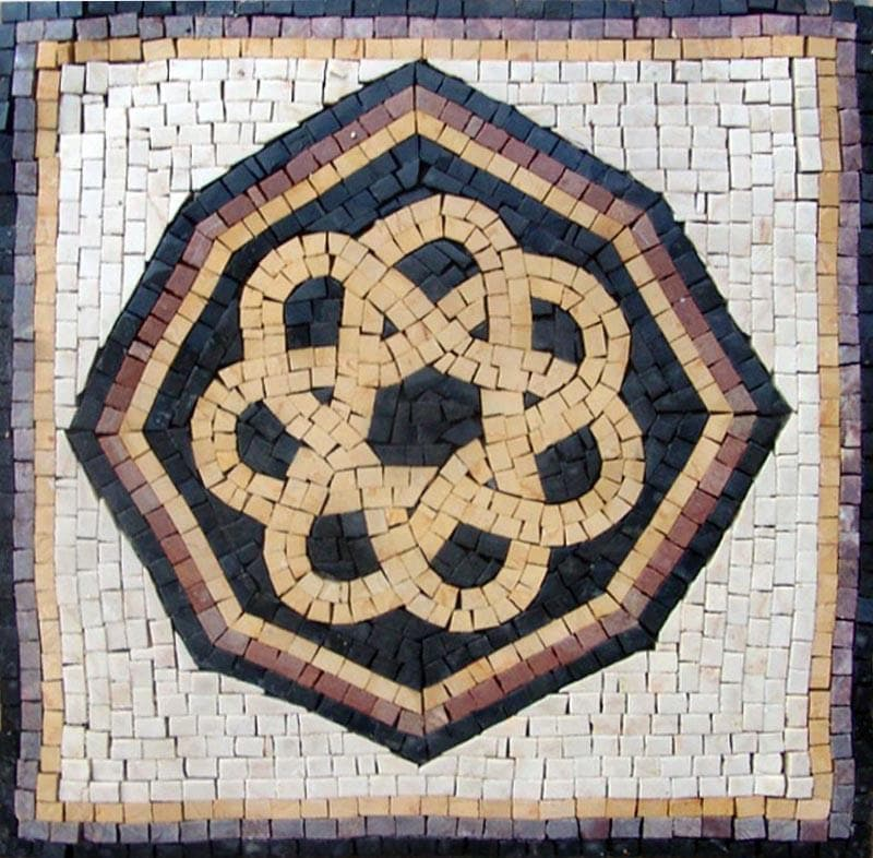 Black and Gold Marble Square - Octagon Mosaic