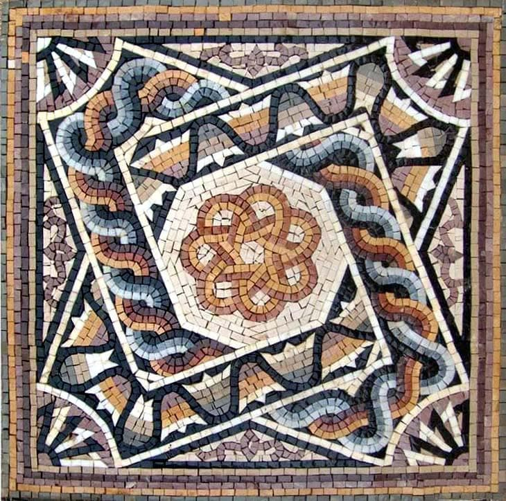 Multi Colored Mosaic Art Pompeii Geometric Mozaico