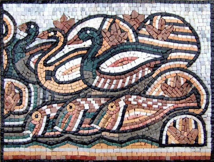 Mosaic Tile Art - Ducks