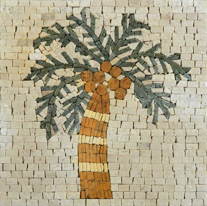 Mosaic Art - Leaning Palm