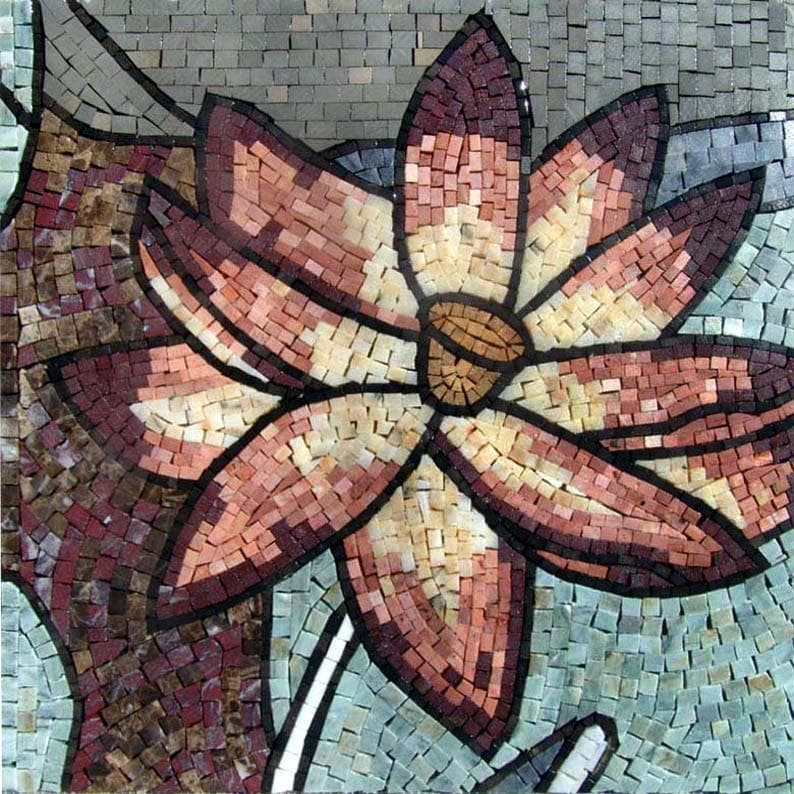 Colorful Mosaic Art - Lotus