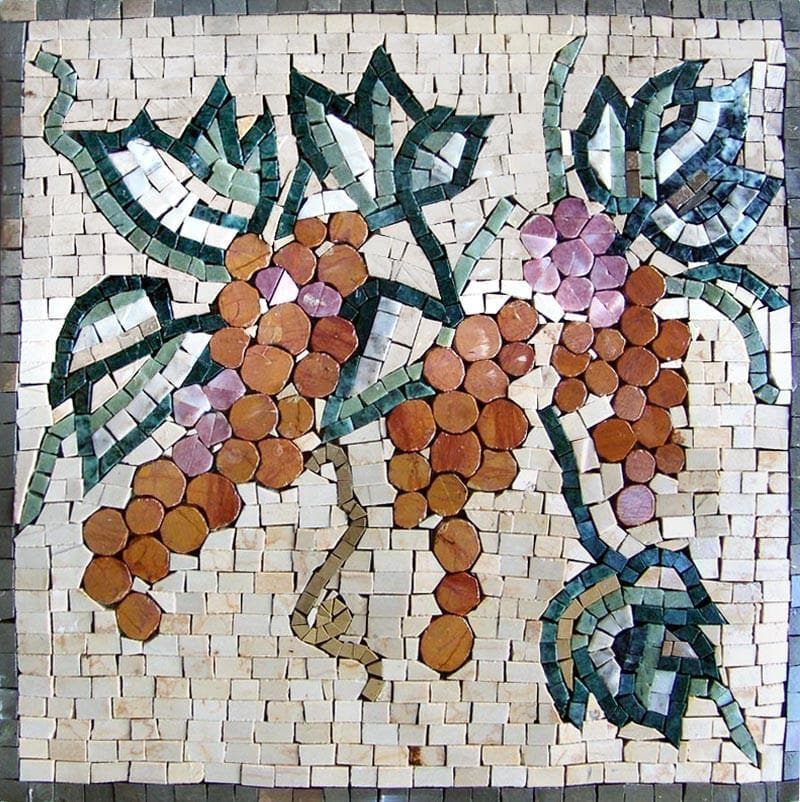 Mosaic Patterns- Cremisi Grape