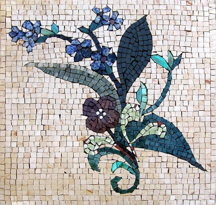 Mosaic Wall Art - Violet