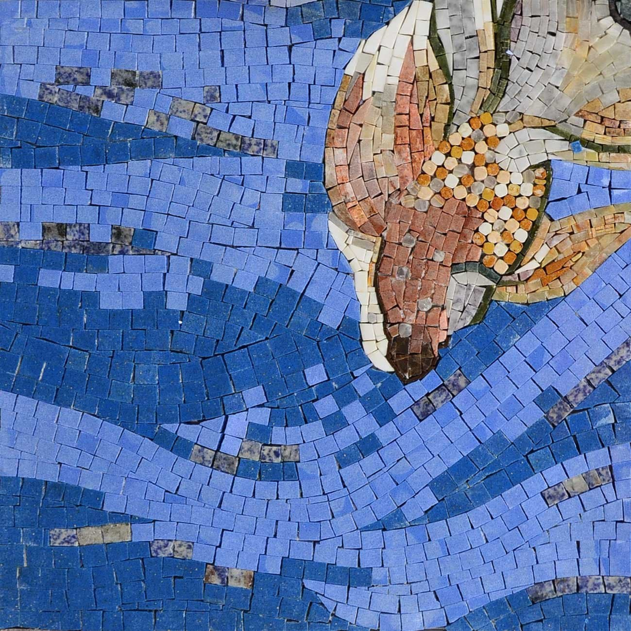 Fish in the sea Marble Mosaic