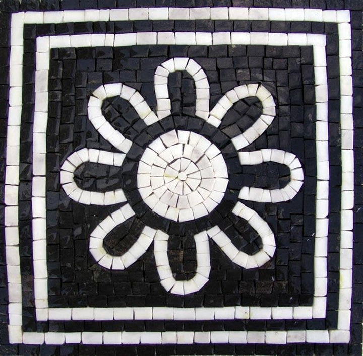 The Black and White Zentangle Mosaic