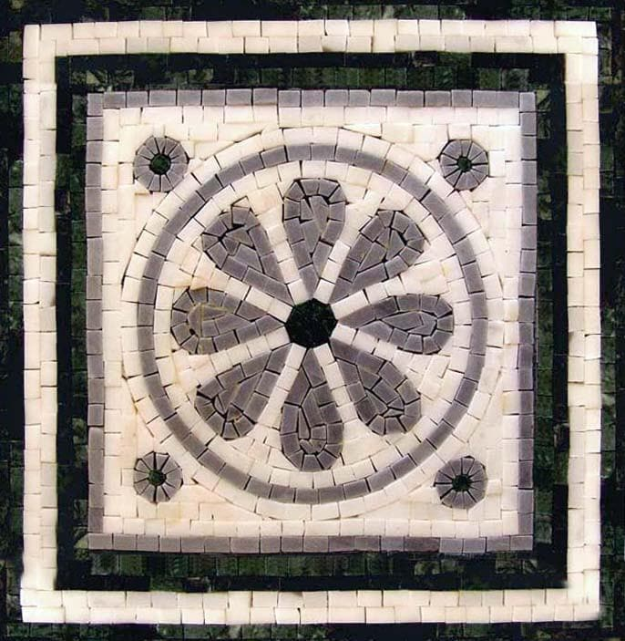 Natural Stone Mosaic - Lotus Jewel
