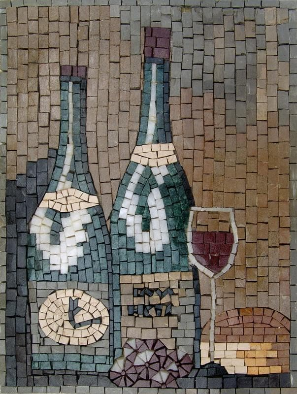 Bottles Mosaic Accent