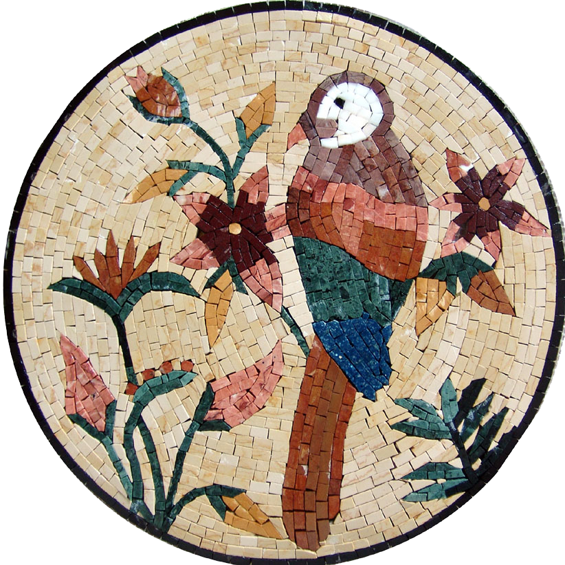 Mosaic Medallion - Colorful Bird