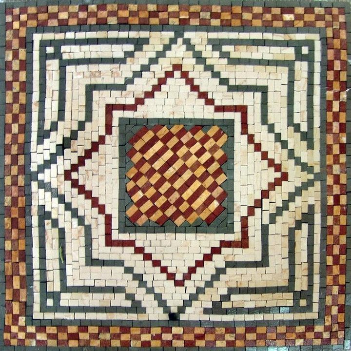 Accent Mosaics with brown and beige pattern