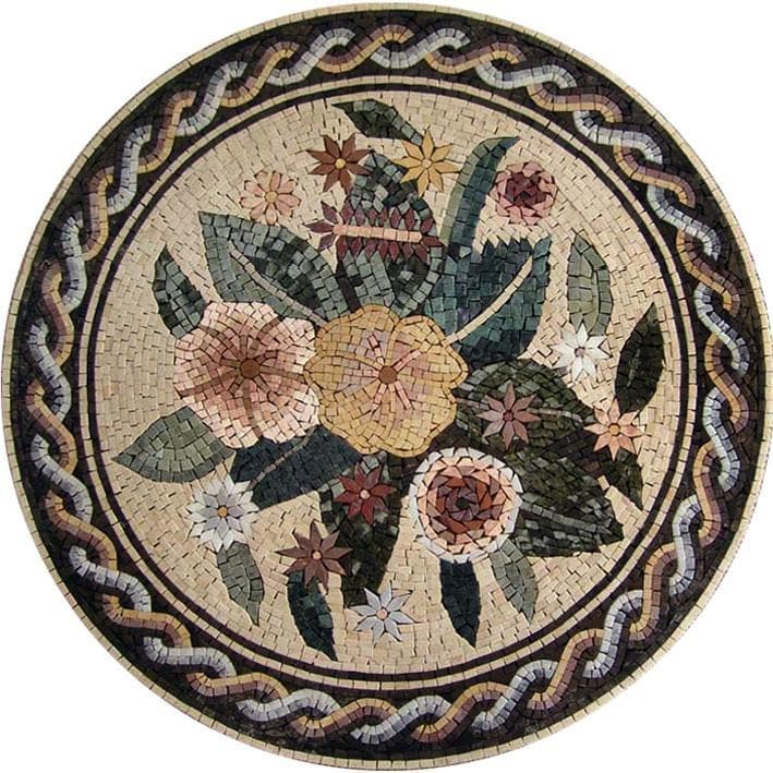 mozaico roman greco products zeus medallion mosaics art designs geometric