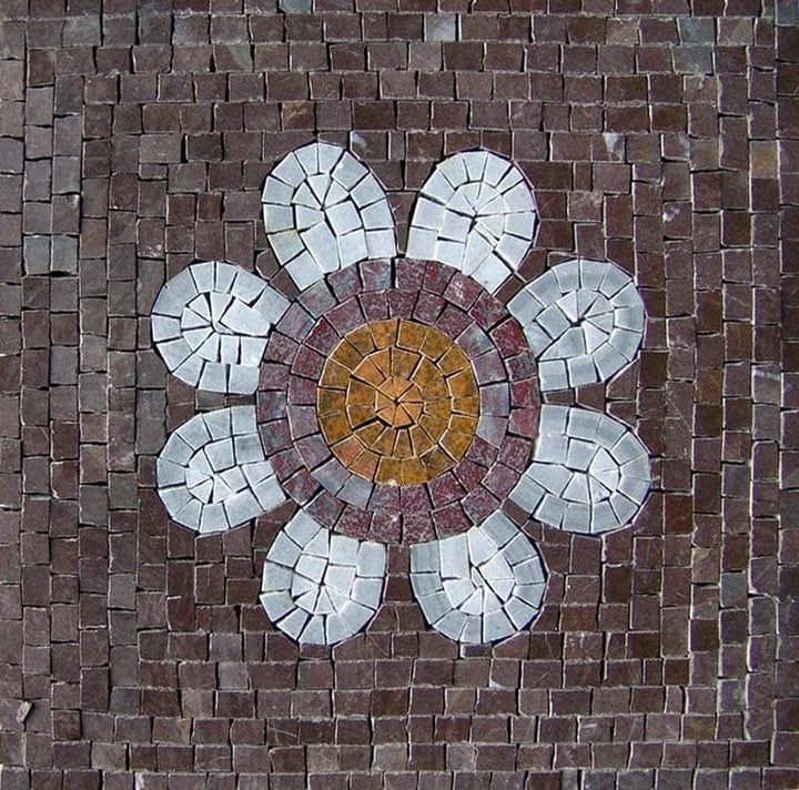 Flower Mosaic Wall Tile - Kalina