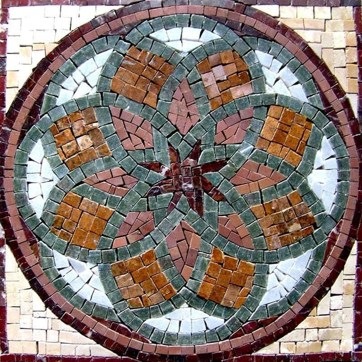 Accent Flower Mosaic Panel - Blom