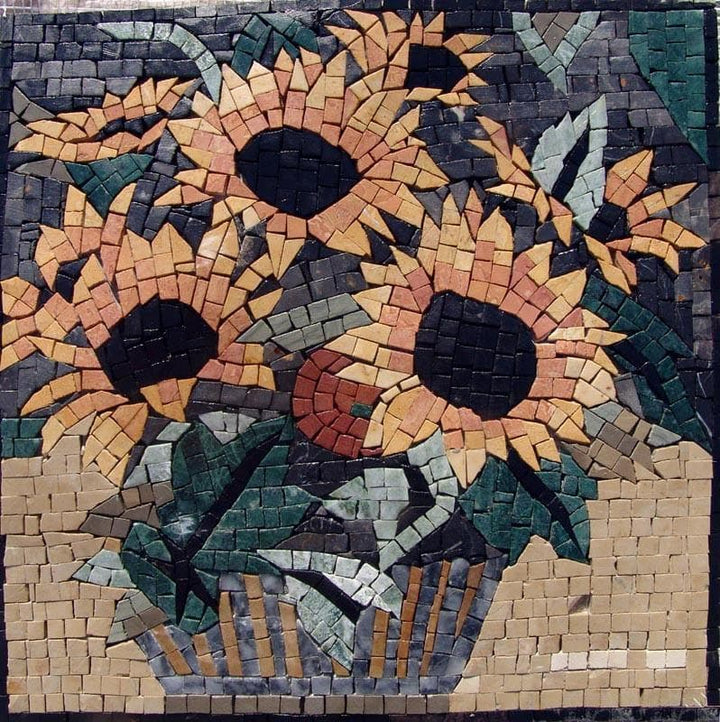 Mosaic Tile Patterns - Sunflower Daisies