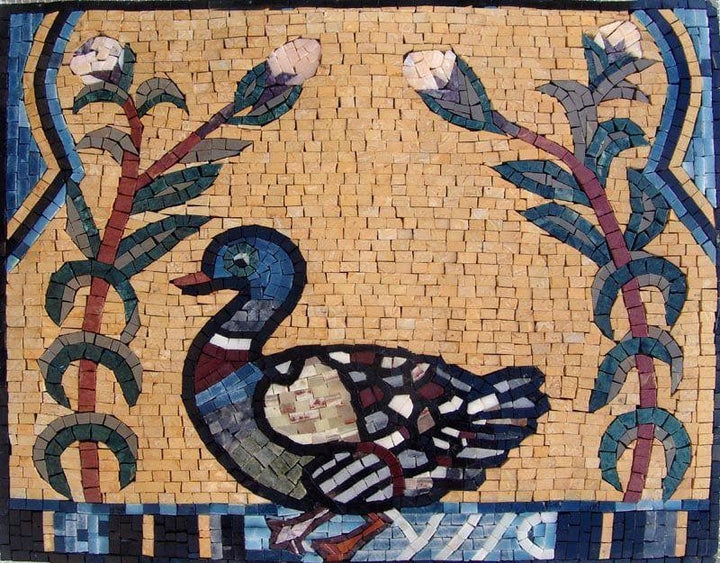 Mosaic Tile Art - Duck