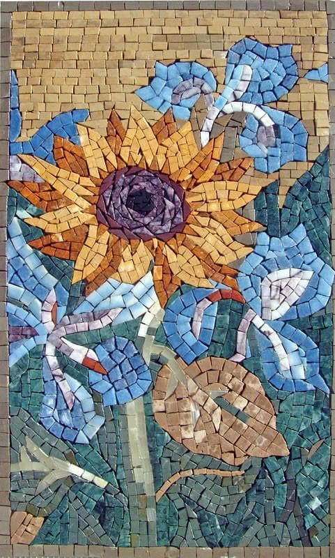 Mosaic Designs Contemporary Sunflower Pic