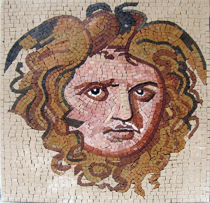 Mithras Greek Mosaic Reproduction