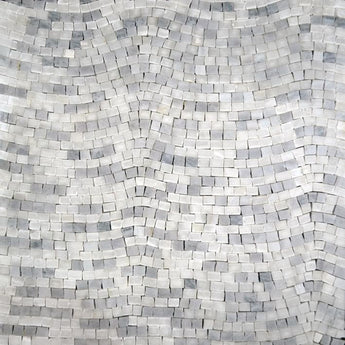 Accent Mosaic Quartz Sheet-Achromatic Gray