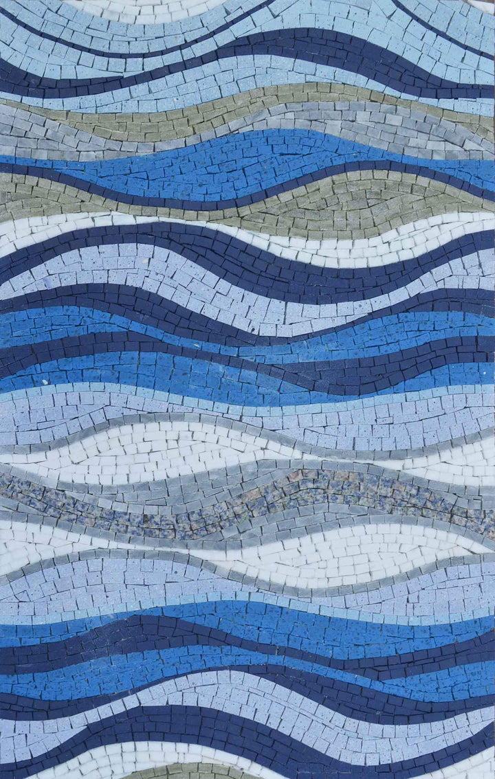 Sea Shades Marble Mosaic