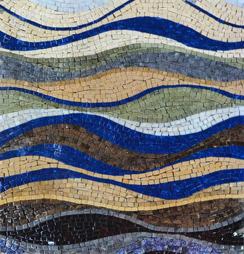 Stone Mosaic Design - Catch The Wave