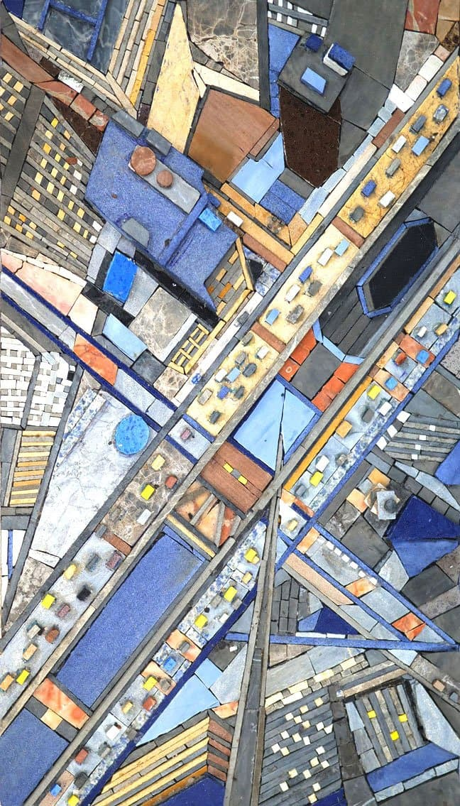 Busy Roads City Mosaic Pic