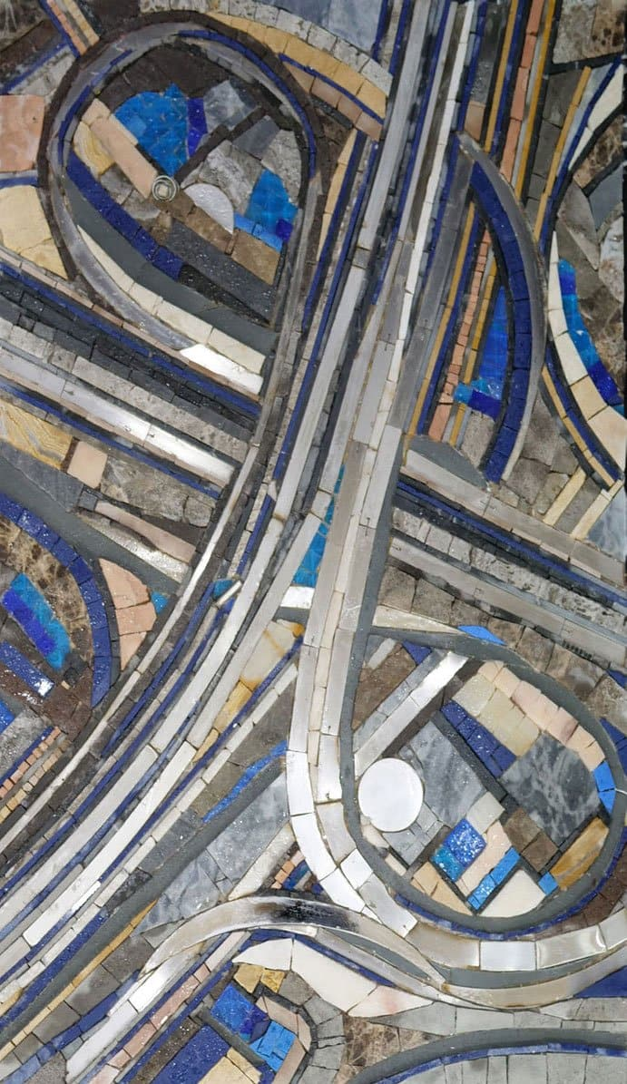 Highway Junction - Abstract Mosaic Design