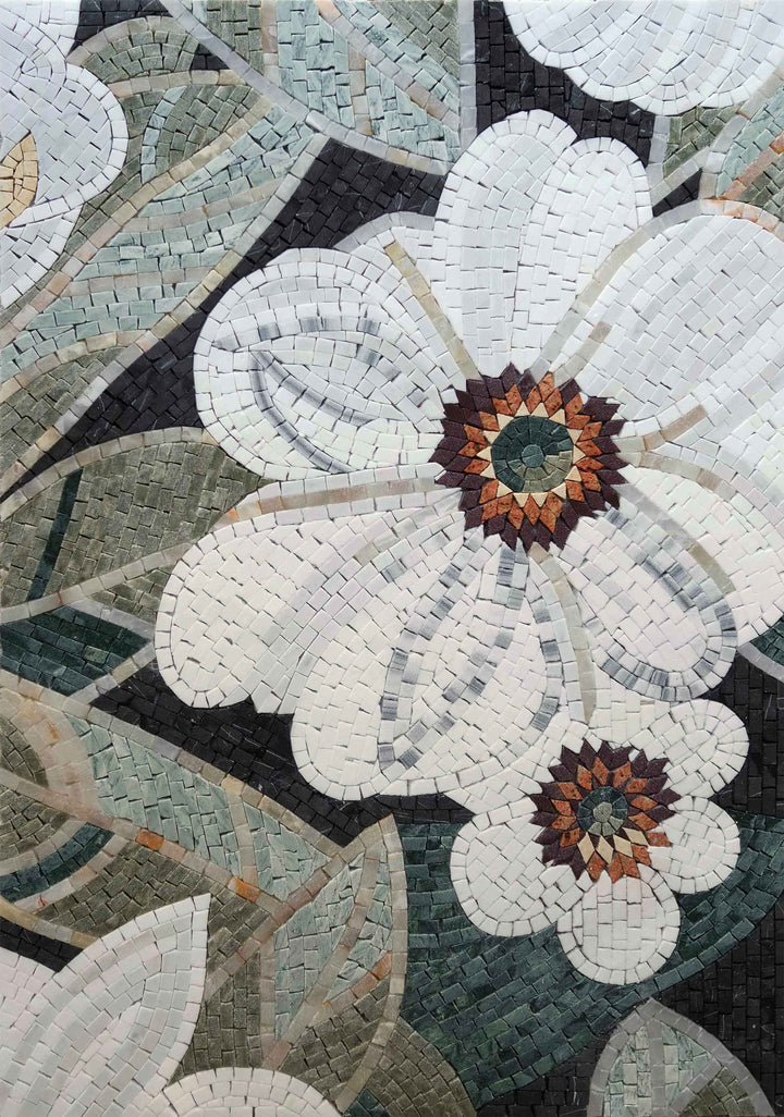 Mosaic Wall Art - Lys Flower
